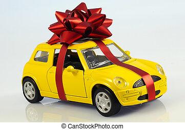 voiture, agrafe, cadeau