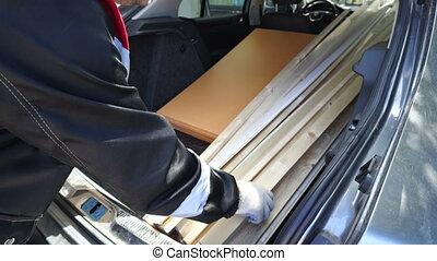 voiture, amélioration, matériels, transport, coffre, construction maison, homme