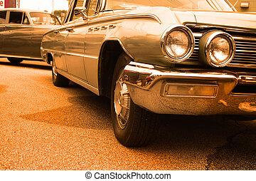 voiture, américain, muscle