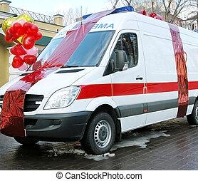 voiture, ambulance