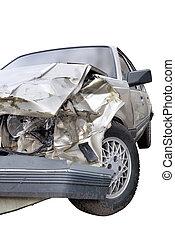 voiture, après, fracas
