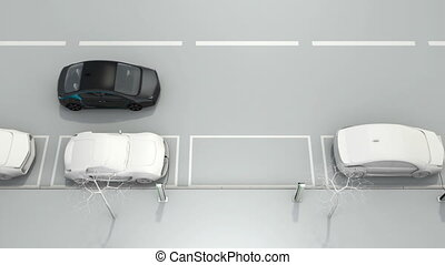 voiture, assister, système, stationnement