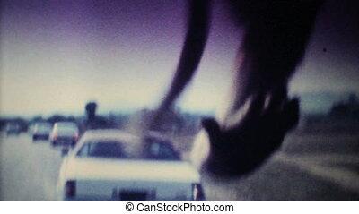 voiture, attaque, -, singes, 1979