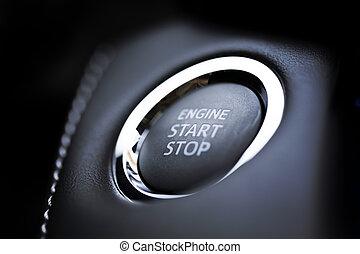 voiture, bouton