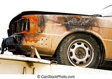 voiture, brûler