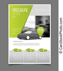 voiture, brochure., auto, prospectus, brochure, aviateur,...