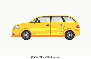 voiture, côté, hayon, vue