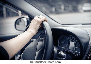 voiture, chauffeur