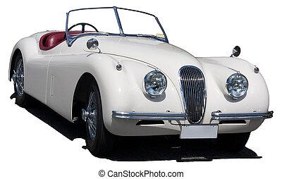 voiture, classique, britannique, sports