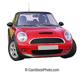 voiture compacte, moderne, isolé