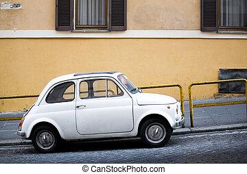 voiture compacte, rue, italien
