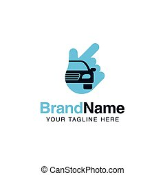 voiture, compagnie, solution, conception, auto, services, logo, template.