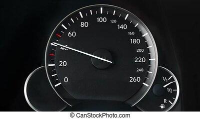 voiture, compteur vitesse