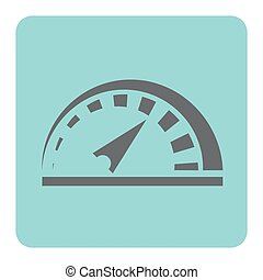 voiture, compteur vitesse, icône
