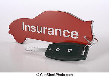 voiture, concept, assurance
