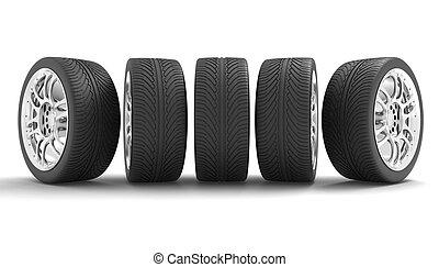 voiture, concept, conception, wheels.