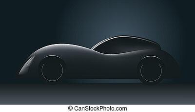 voiture, concept, futuriste
