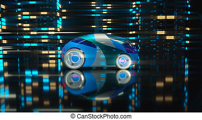 voiture, concept, -, illustration, 3d