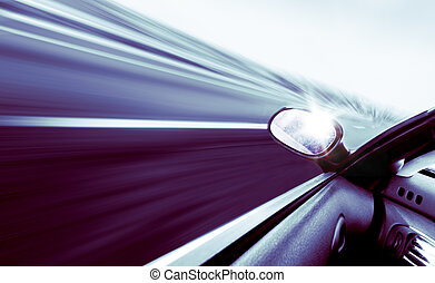 voiture, concept, vitesse