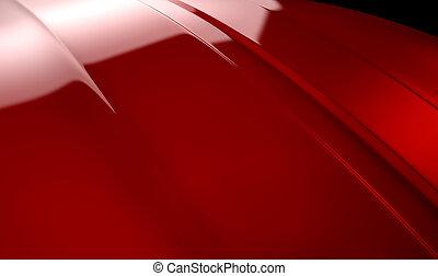 voiture, contour, cerise rouge