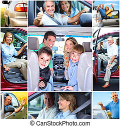 voiture, couples aînés