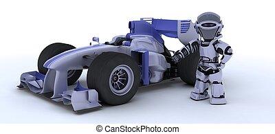 voiture courir, robot