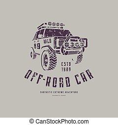 voiture, de-route, emblème