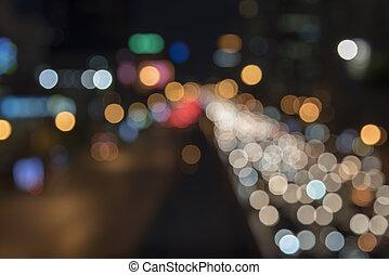 voiture, defocused, lumières
