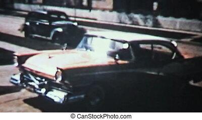 voiture, dehors, dos, driveway-1958, nouveau