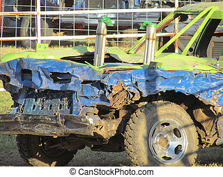 voiture, demolation, derby
