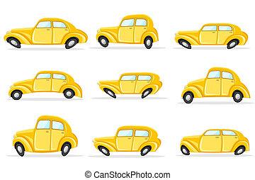 voiture, différent, forme
