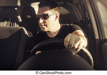 voiture, driver.