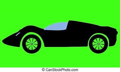 voiture, en mouvement, canal, alpha