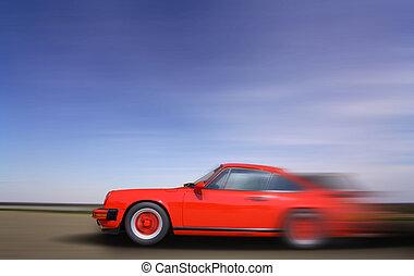 voiture, en mouvement, jeûne