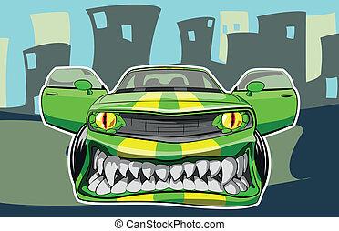 voiture, fâché