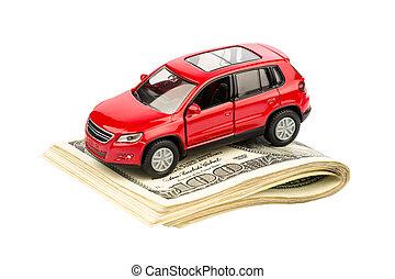 voiture, factures, dollar