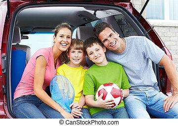 voiture, famille