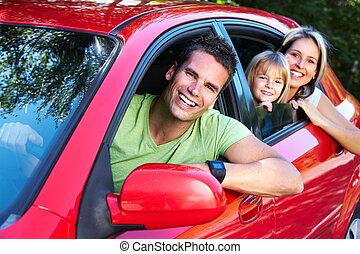 voiture., famille