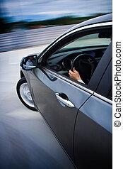 voiture, fast., conduite