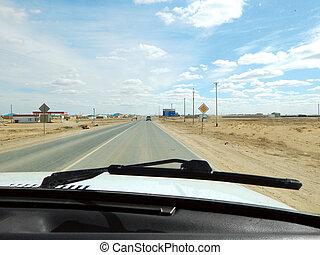 voiture, fenêtre., vue