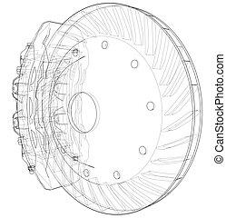 plat disque frein ic ne disque plat graphique illustration vecteur frein ic ne. Black Bedroom Furniture Sets. Home Design Ideas