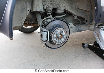 voiture, freinage, système