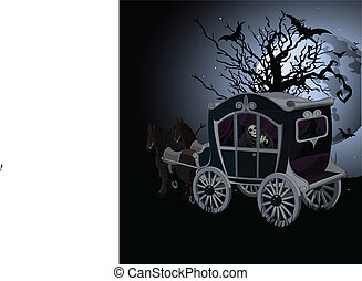 voiture, halloween, fond