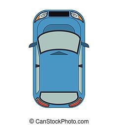 voiture, hayon, icône