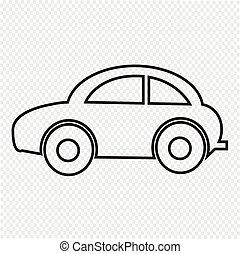 voiture, icône