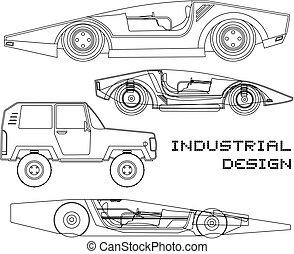 voiture, industriel