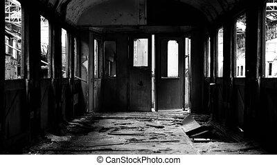 voiture, intérieur, abandonnés