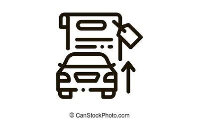voiture, investissement, animation, icône