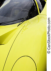 voiture, jaune, sports