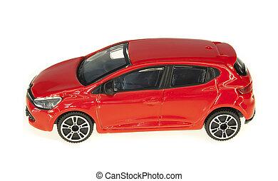 voiture, jouet, brillant, isolé, rouges
